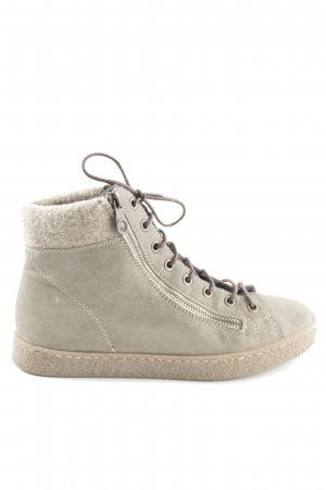 Rieker Lace-up Booties khaki casual look
