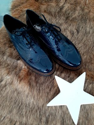 Rieker Wingtip Shoes dark blue