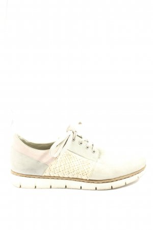 Rieker Zapatos brogue gris claro-crema look casual