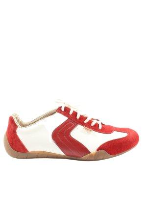 Rieker Schnürschuhe rot-weiß Casual-Look