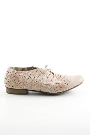Rieker Zapatos brogue crema estampado floral look casual