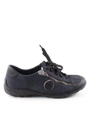 Rieker Lace-Up Sneaker blue casual look