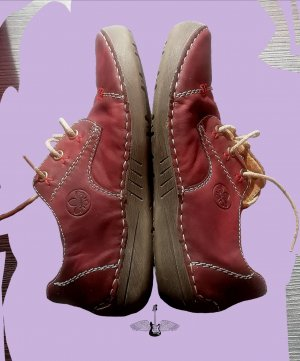 Rieker High Top Sneaker dark red
