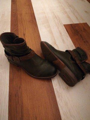 Chelsea Boot vert forêt-rouille
