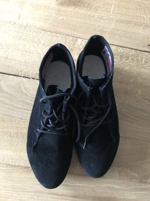 Rieker Lace-up Booties black