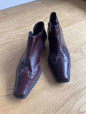 Rieker Western Booties brown red