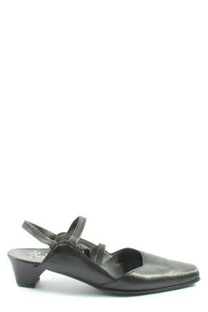 Rieker Slingback Pumps black casual look
