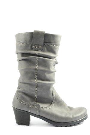 Rieker Bottes plissées gris clair style décontracté