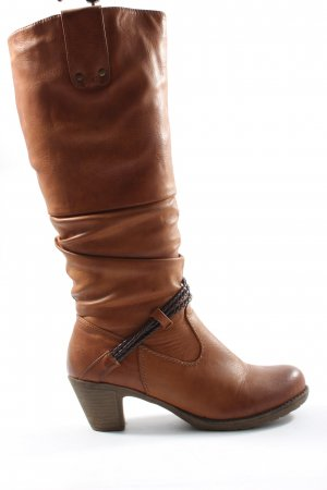 Rieker Slouch Boots brown casual look