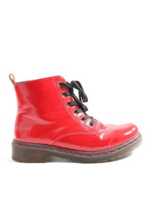 Rieker Slappe laarzen rood casual uitstraling