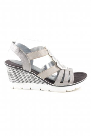 Rieker Wedges Sandaletten Allover-Druck Casual-Look