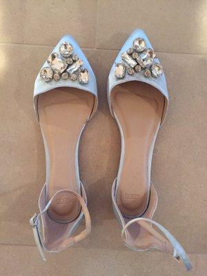 Asos Ballerines à lacets bleu clair