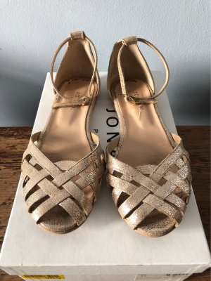 Jonak Strappy Ballerinas gold-colored