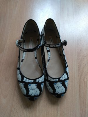 Paul & Joe Sister Mary Jane Ballerinas white-black leather