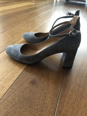 Riemchen Pumps grau velours 38