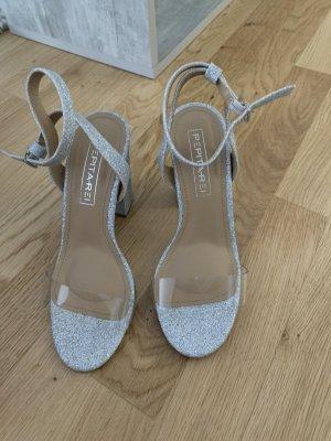 Sandalo con cinturino grigio chiaro