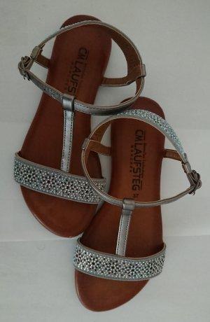 Cm Laufsteg Strapped Sandals silver-colored leather