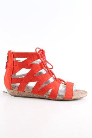 Sandalen met bandjes rood casual uitstraling