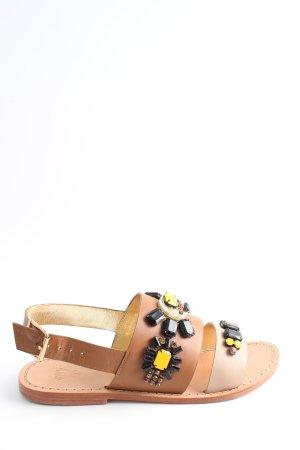 Strapped Sandals brown-cream elegant