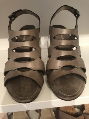 Riemchen Sandalen grau