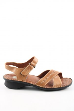 Strapped Sandals light orange casual look
