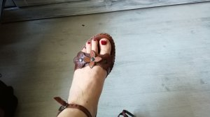 Riemchen-Sandalen mit Keilabsatz, aus Leder, von.Görtz, Gr. 37
