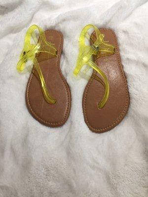 Riemchen Sandalen neon gelb