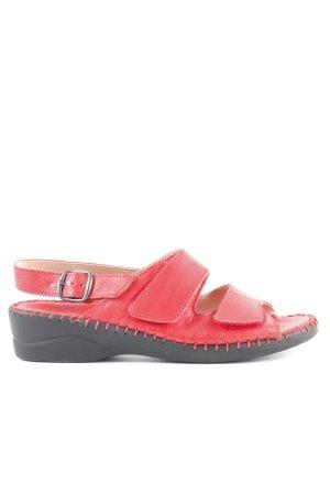 Riemchen-Sandalen rot-schwarz Casual-Look