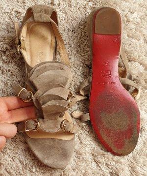 Riemchen-Sandalen, Sandaletten, rote Sohle, Gr. 39