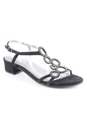 Riemchen-Sandalen schwarz Elegant