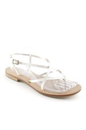 Riemchen-Sandalen wollweiß-beige Casual-Look