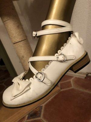 Sandales à lanière blanc cassé