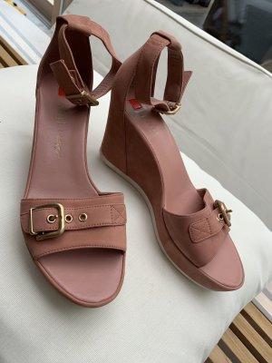 Riemchen Sandalette mit Keilabsatz