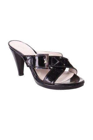 Riemchen-Sandaletten schwarz klassischer Stil