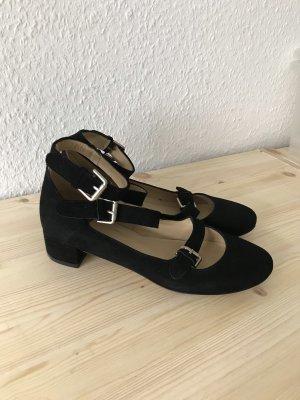 Gardenia Ballerina's met bandjes zwart