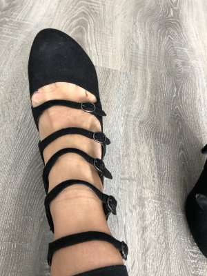 Street Super Shoes Tacones de tiras negro