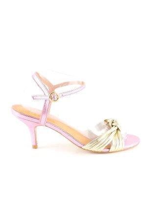 Riemchenpumps goldfarben-pink Elegant