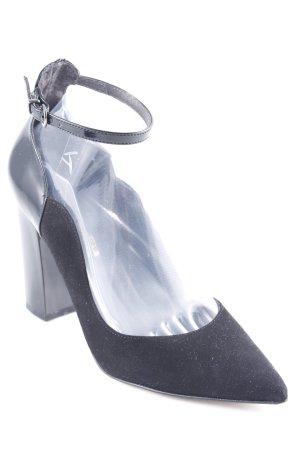 Riemchenpumps schwarz Elegant