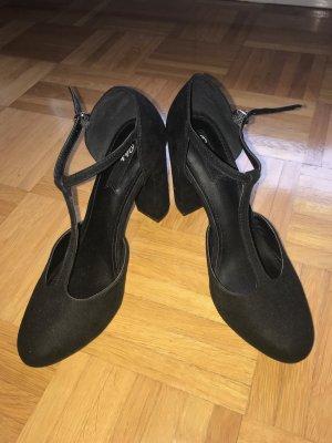 Blink Zapatos de tacón con barra en T negro