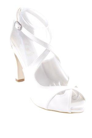 Riemchenpumps weiß Elegant