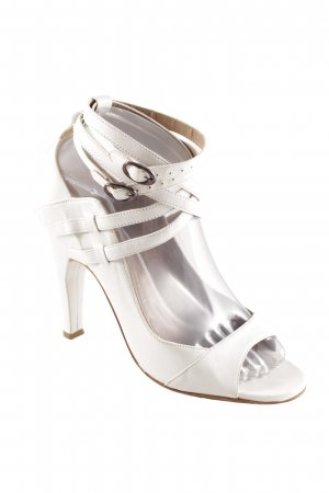Riemchenpumps weiß-hellbraun Elegant