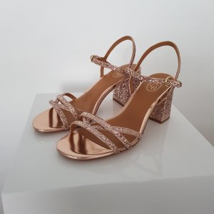 ASH Strapped High-Heeled Sandals rose-gold-coloured