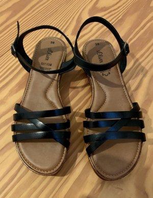 s.Oliver Strapped Sandals black-brown
