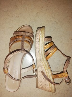 Liebeskind Wedge Sandals light brown-cognac-coloured