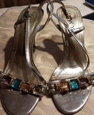 Joxy Sandalias de tacón de tiras color plata