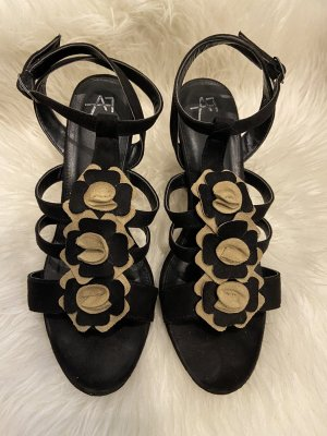 Anna Field Sandalias de tacón de tiras negro-beige