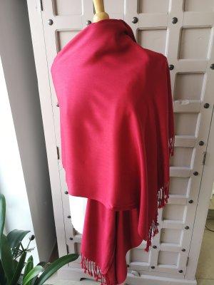 Riesen Schal Plaid Rot mit Strasssteinen