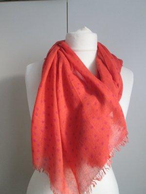 Betty Barclay Bufanda de flecos naranja neón-rojo frambuesa Viscosa