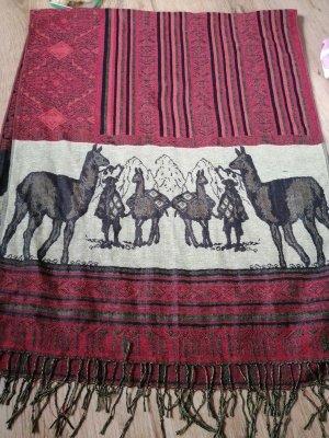 Riesenschal mit Lamas - aus Peru