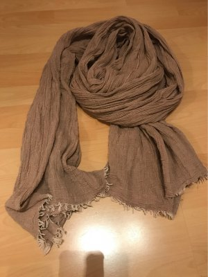 Kontatto Crinkle Scarf rose-gold-coloured